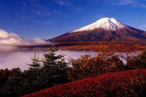 Cảnh núi Phú Sỹ mùa thu